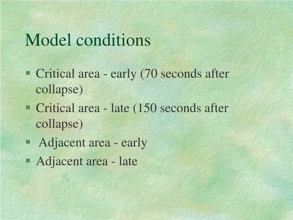 Model conditions