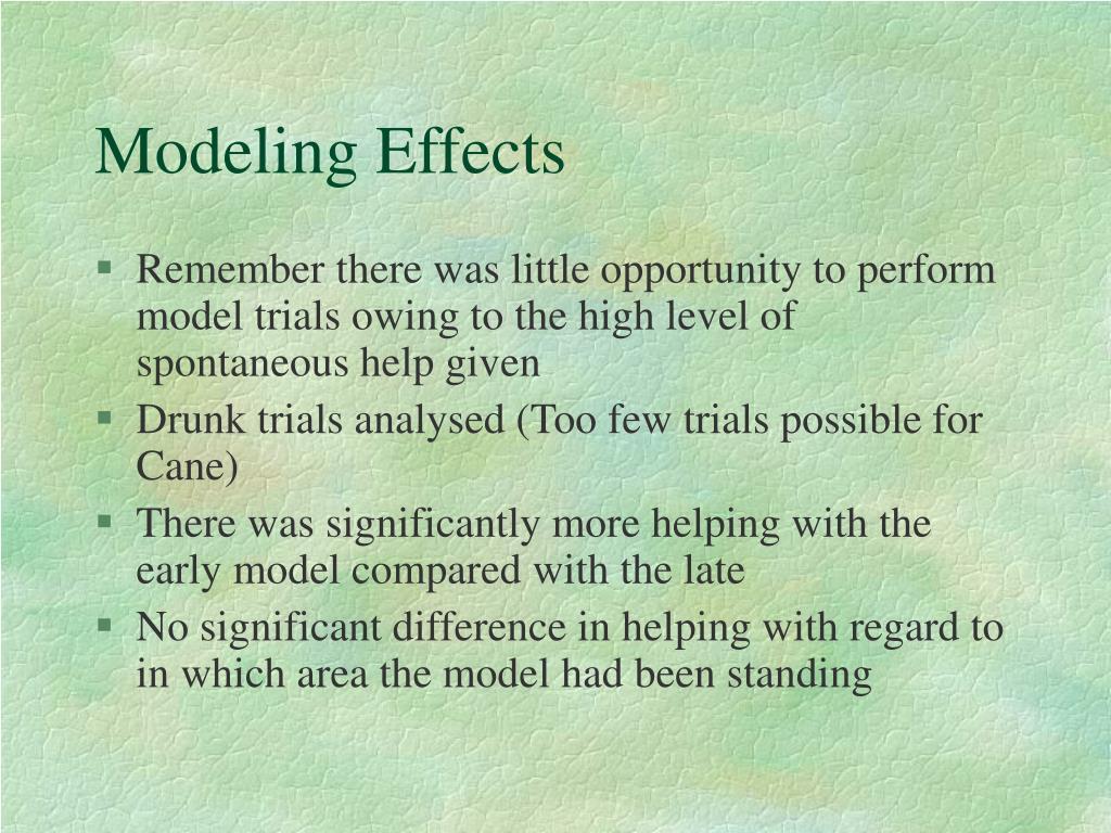 Modeling Effects