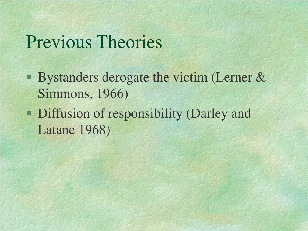 Previous Theories