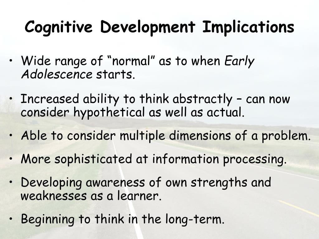 Cognitive Development Implications