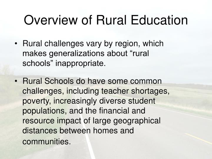 Overview of rural education3