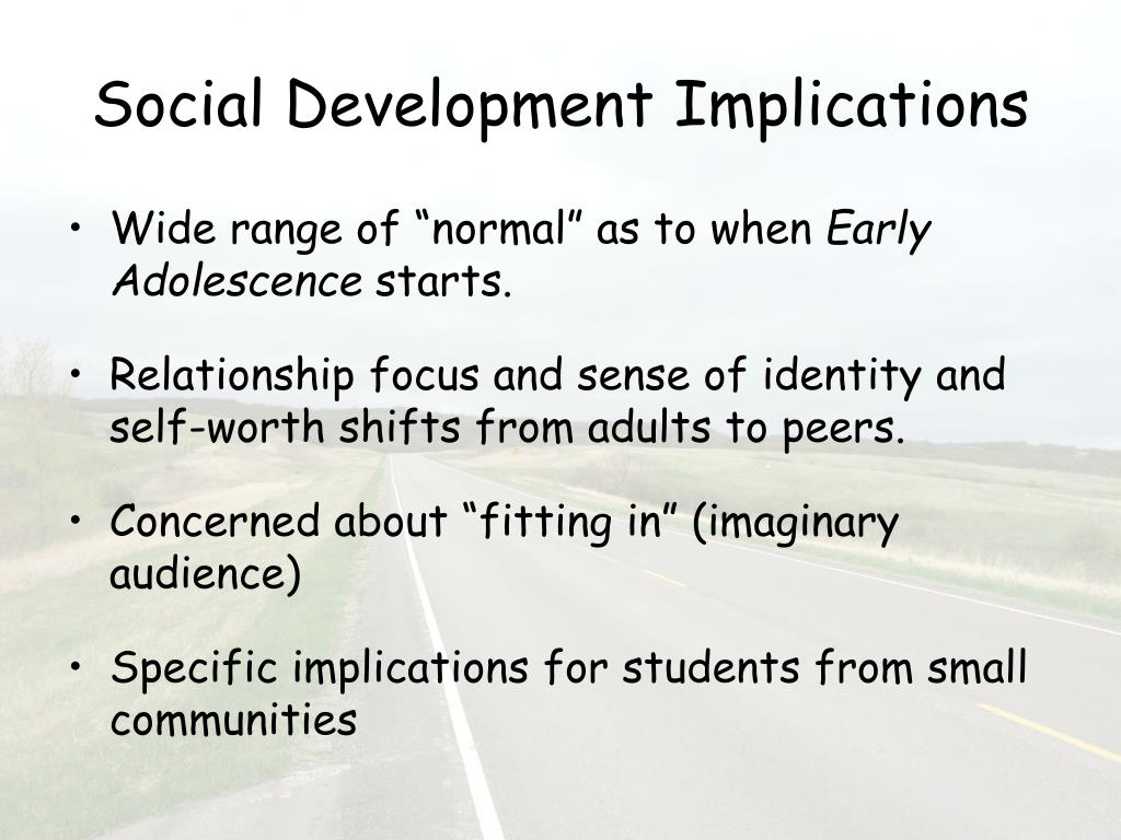 Social Development Implications