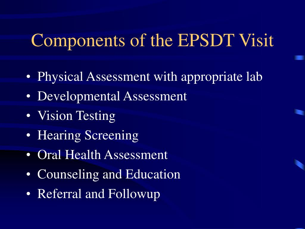 Components of the EPSDT Visit
