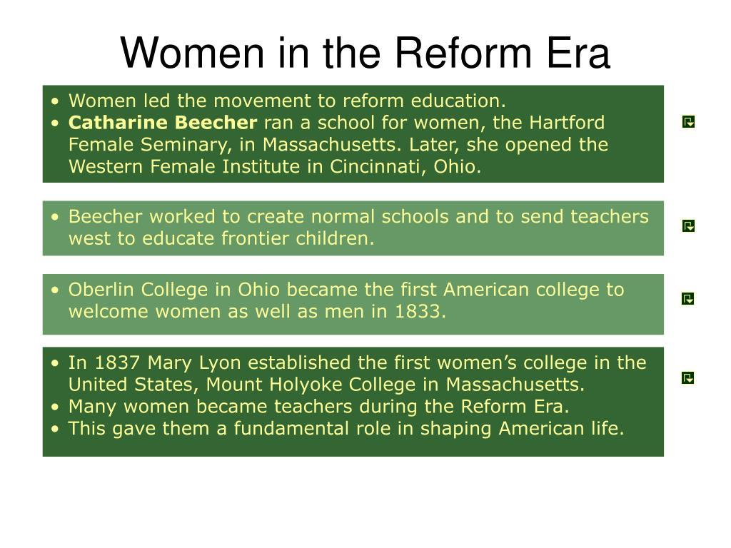 Women in the Reform Era