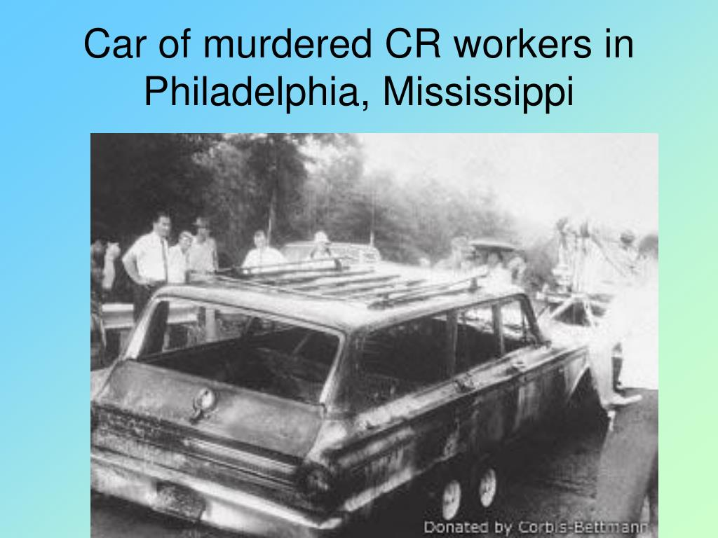 Car of murdered CR workers in Philadelphia, Mississippi