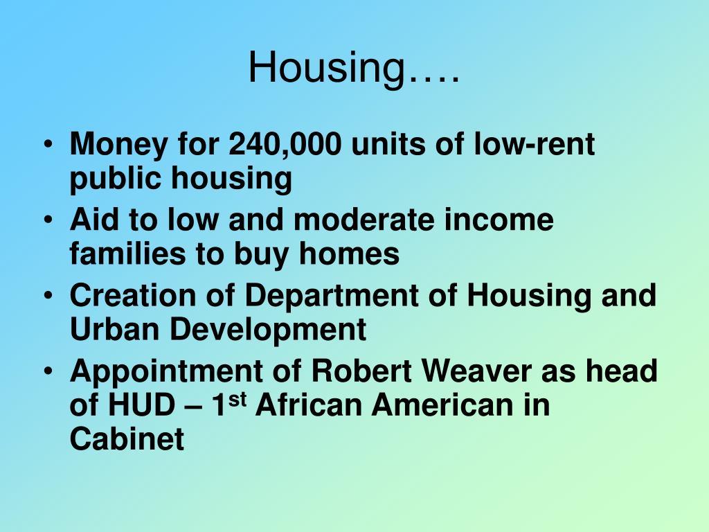 Housing….