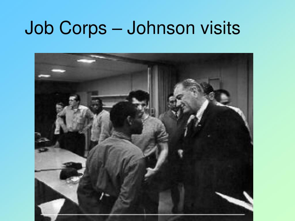 Job Corps – Johnson visits
