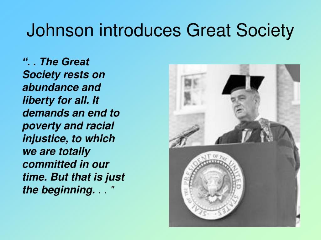 Johnson introduces Great Society
