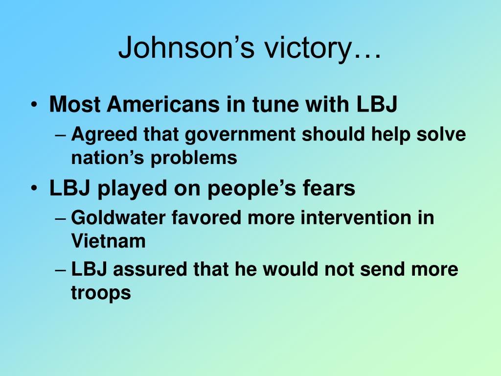 Johnson's victory…