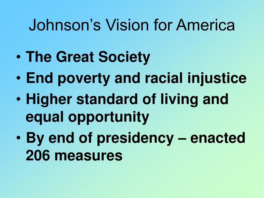 Johnson's Vision for America