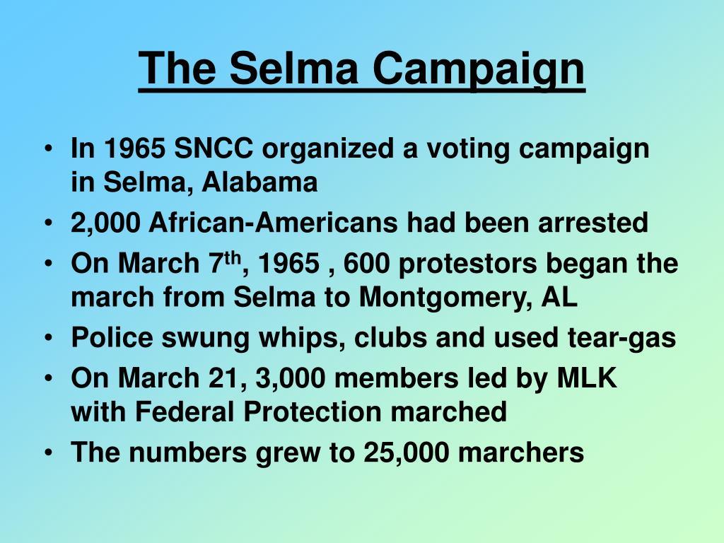 The Selma Campaign
