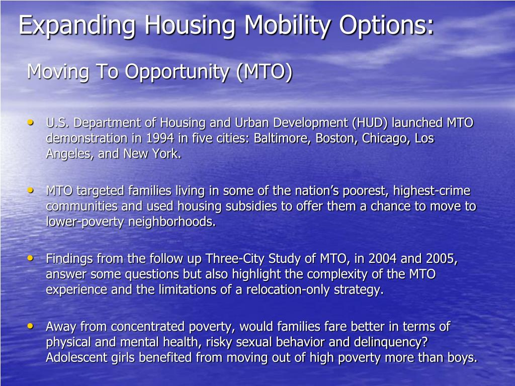 Expanding Housing Mobility Options:
