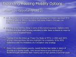 expanding housing mobility options