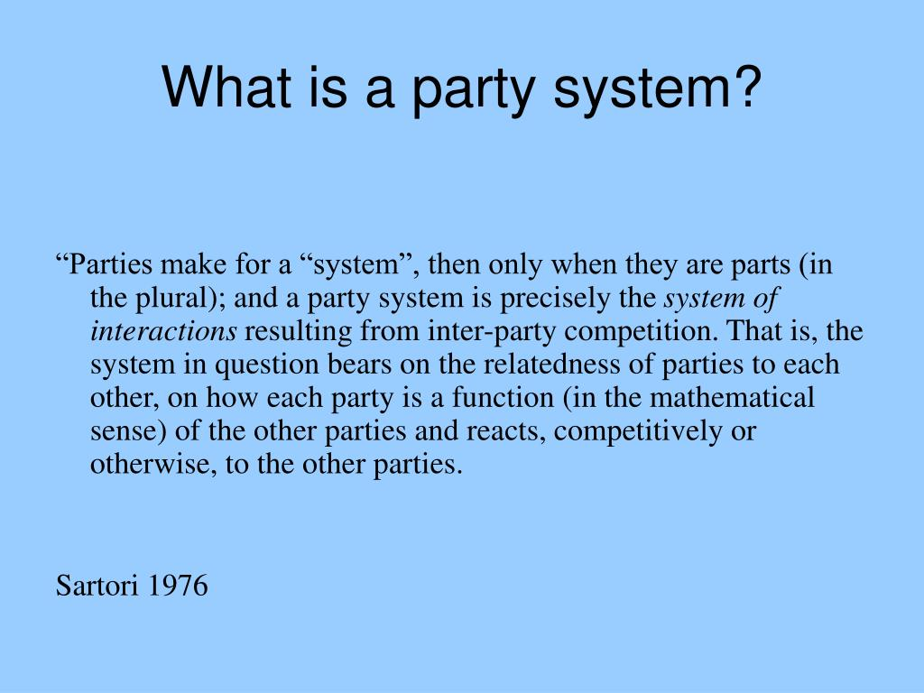 What is a party system?
