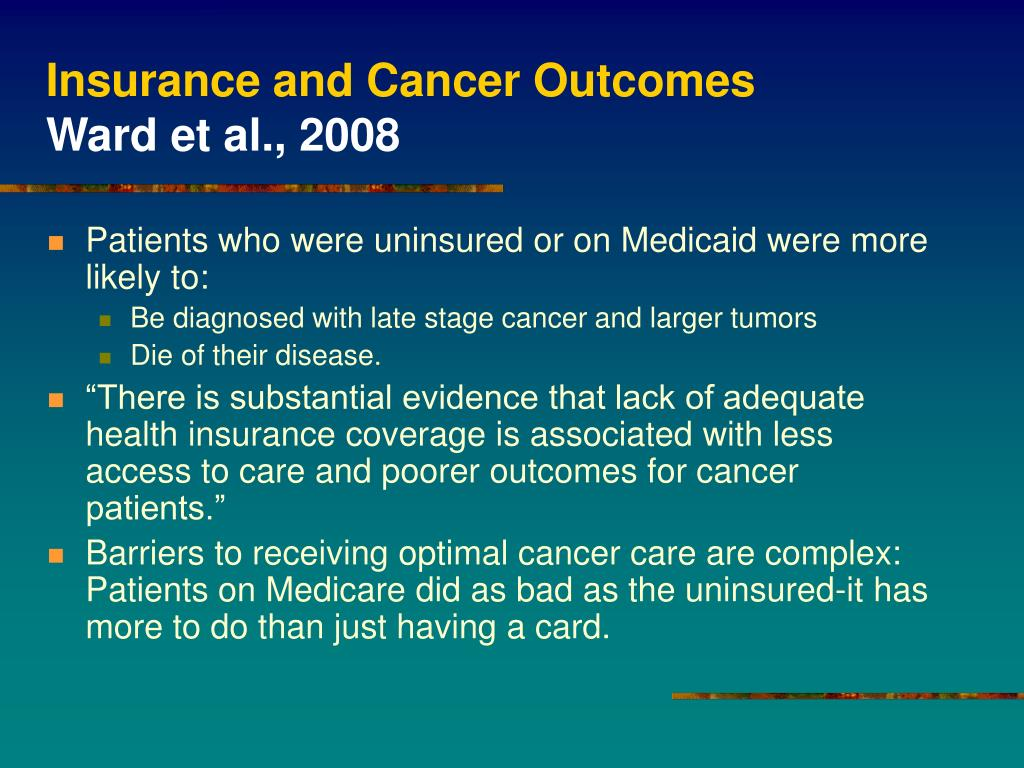 Insurance and Cancer Outcomes