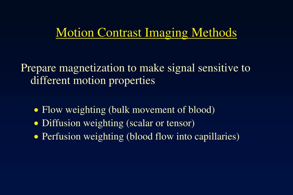 Motion Contrast Imaging Methods