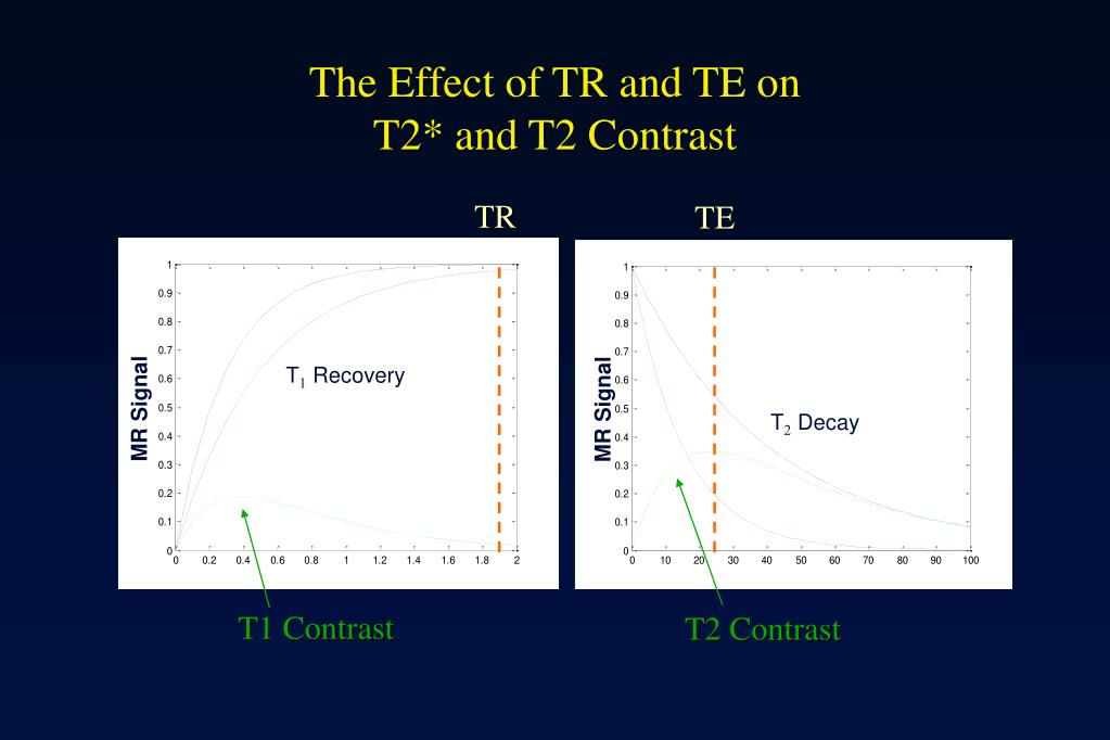 The Effect of TR and TE on