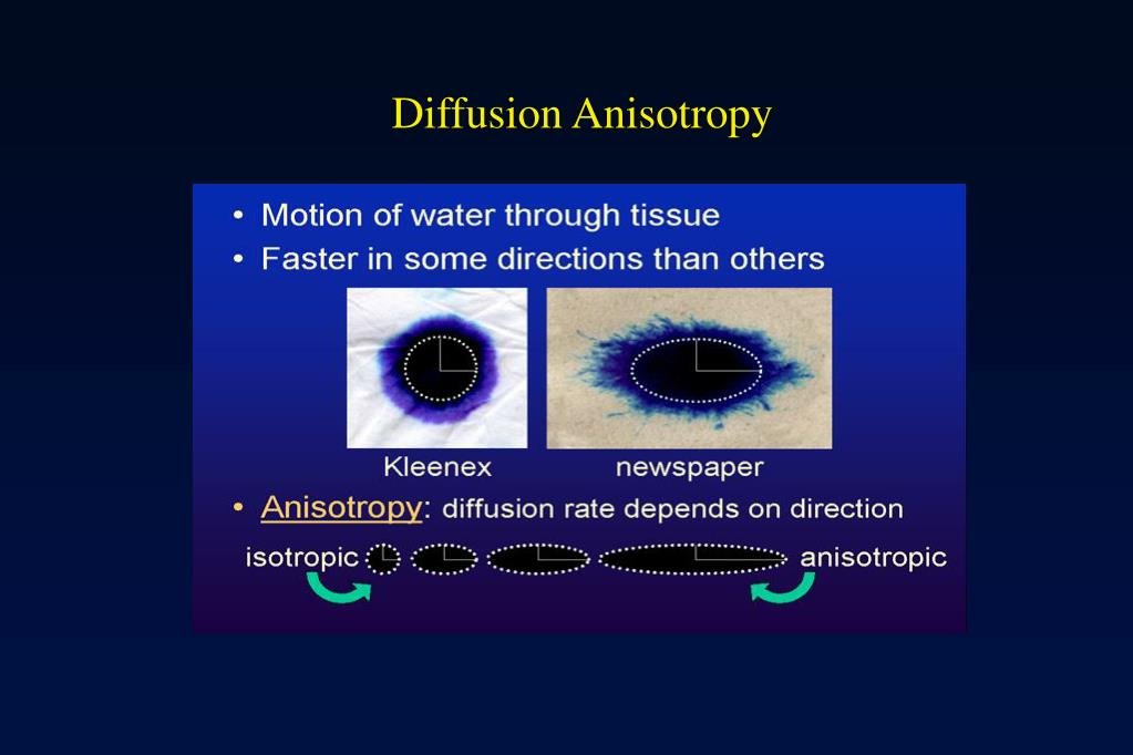 Diffusion Anisotropy