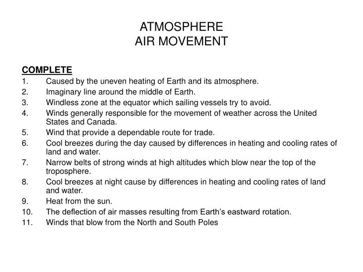 Atmosphere air movement3