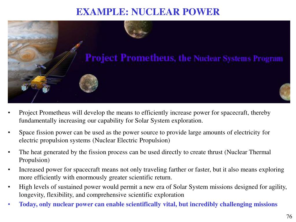 EXAMPLE: NUCLEAR POWER