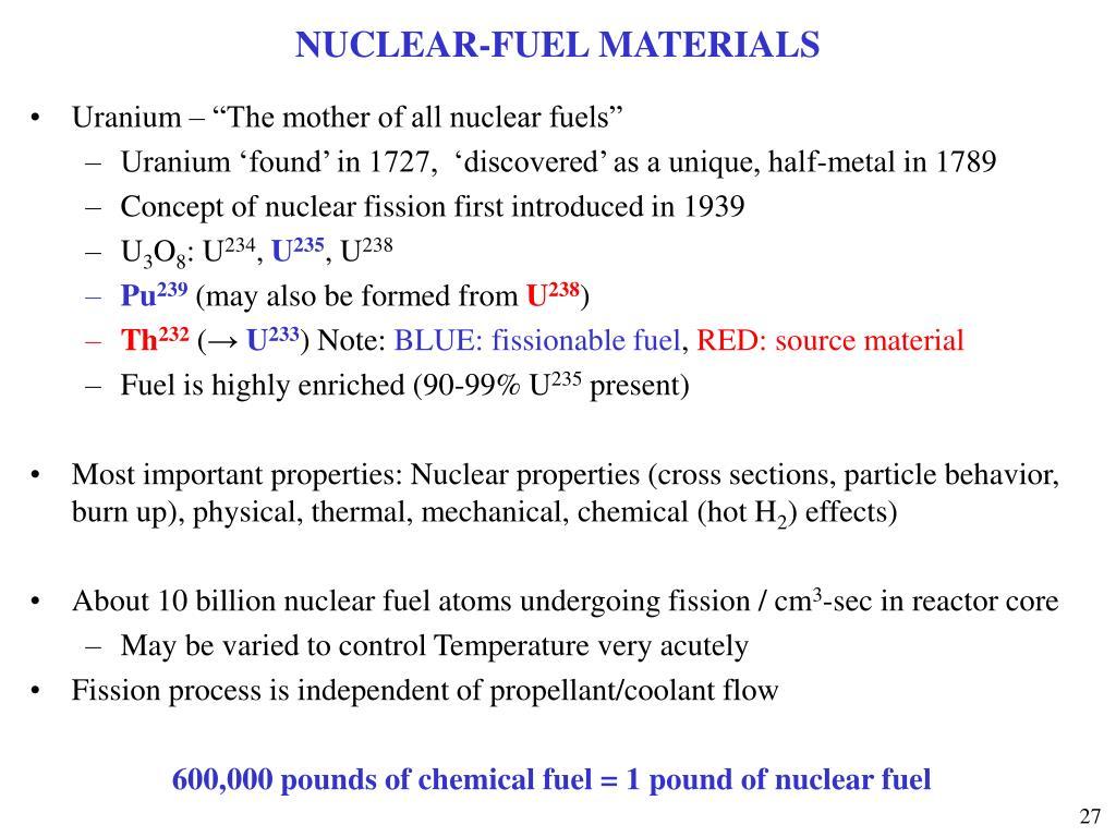 NUCLEAR-FUEL MATERIALS