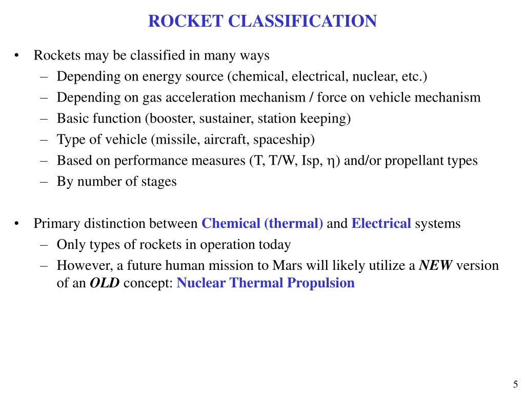 ROCKET CLASSIFICATION