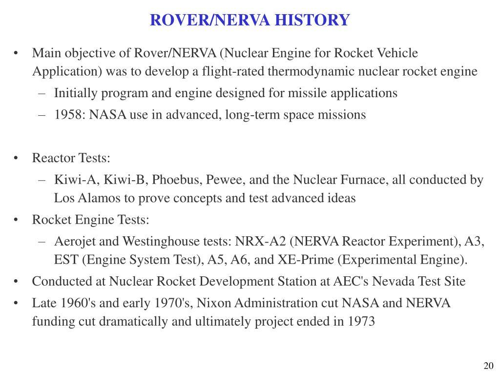 ROVER/NERVA HISTORY