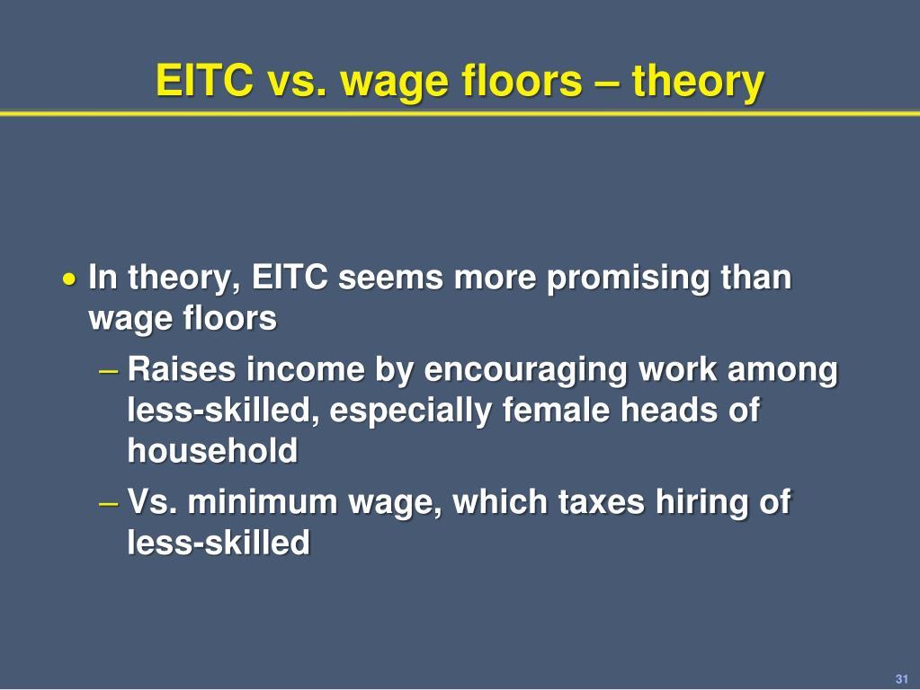 EITC vs. wage floors – theory