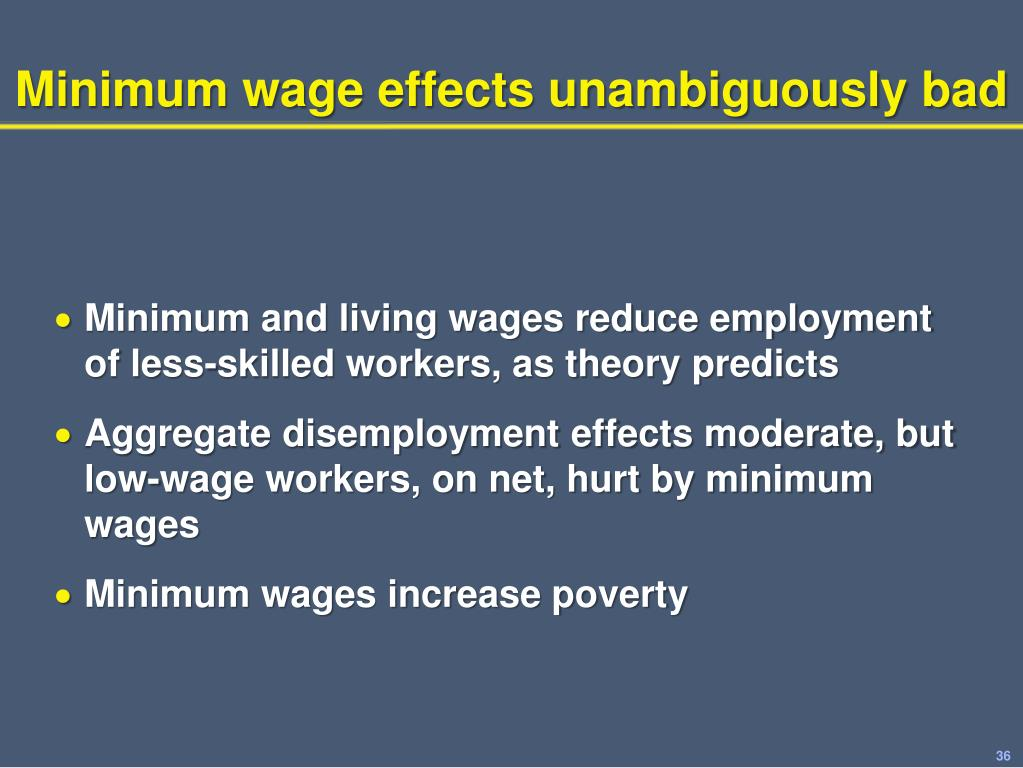 Minimum wage effects unambiguously bad
