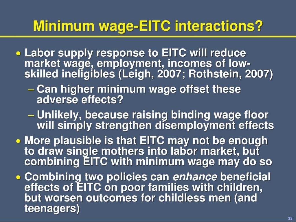 Minimum wage-EITC interactions?