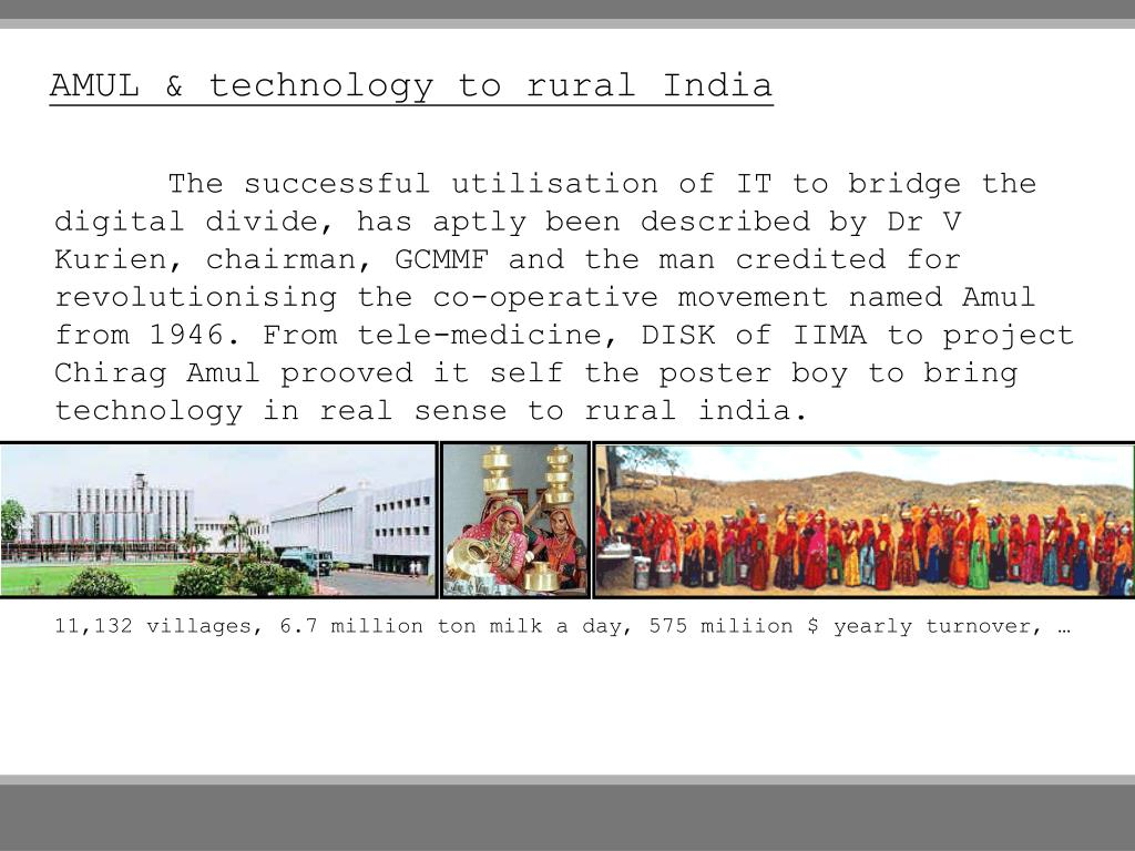 AMUL & technology to rural India