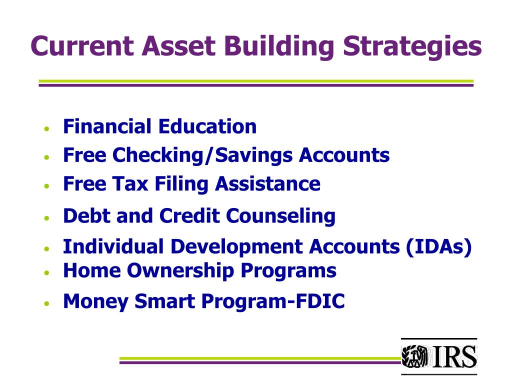 Current Asset Building Strategies
