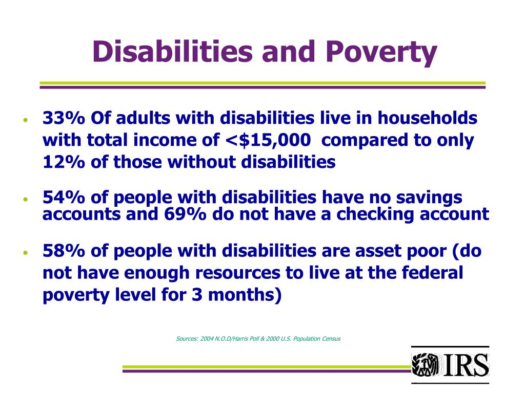 Disabilities and Poverty