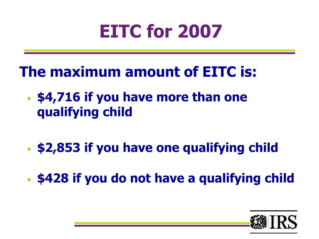 EITC for 2007