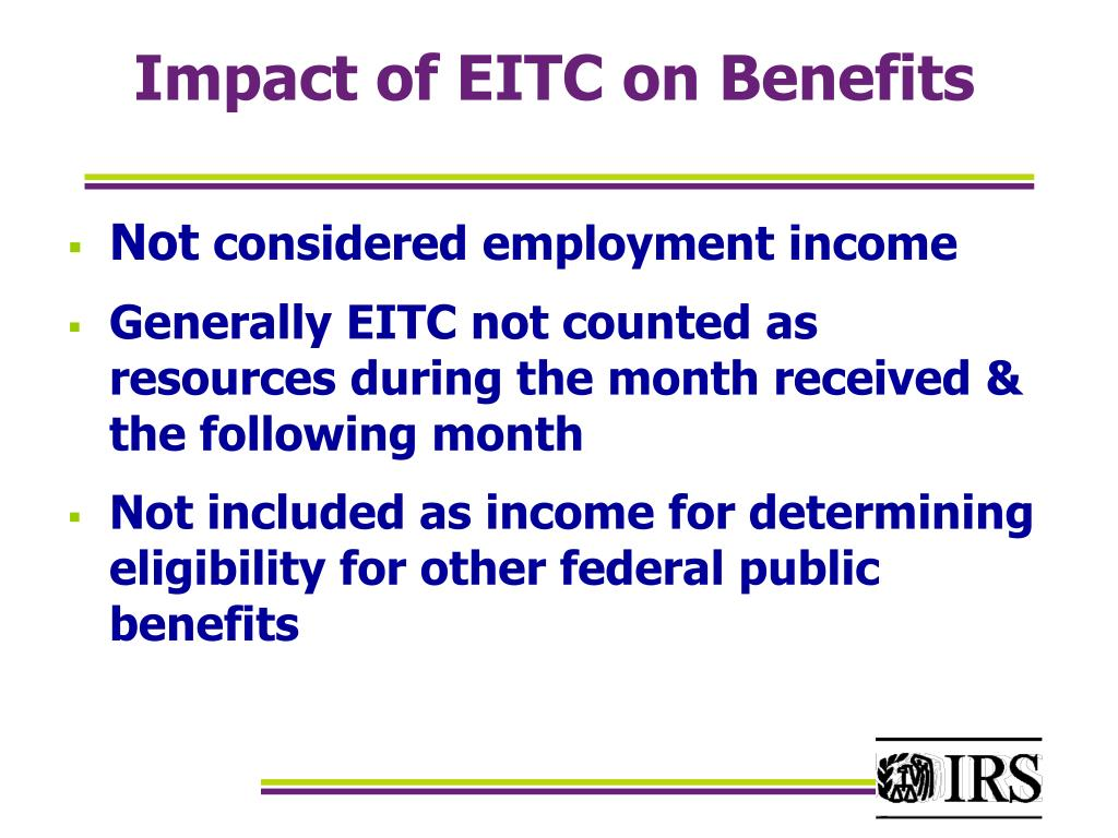 Impact of EITC on Benefits