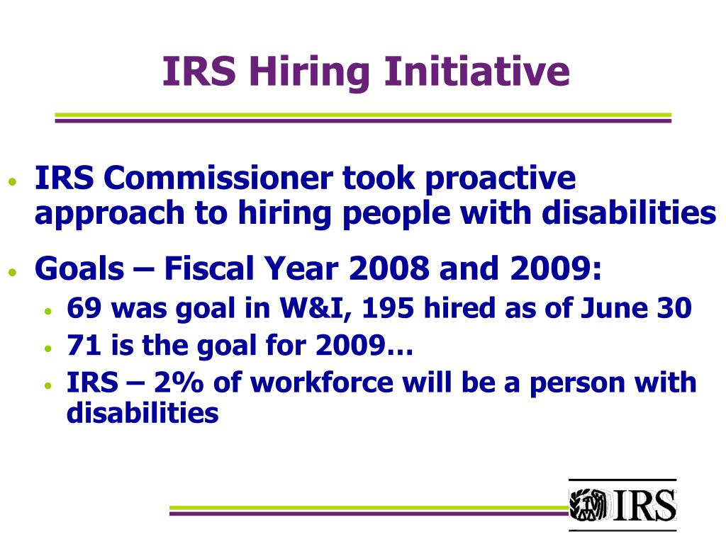 IRS Hiring Initiative