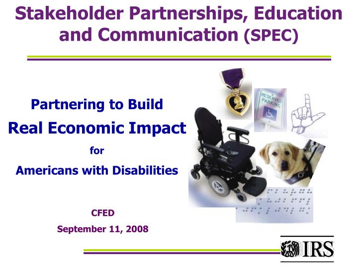 Stakeholder partnerships education and communication spec