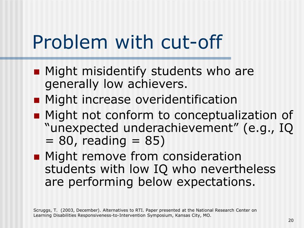 Problem with cut-off