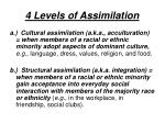 4 levels of assimilation