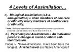 4 levels of assimilation1