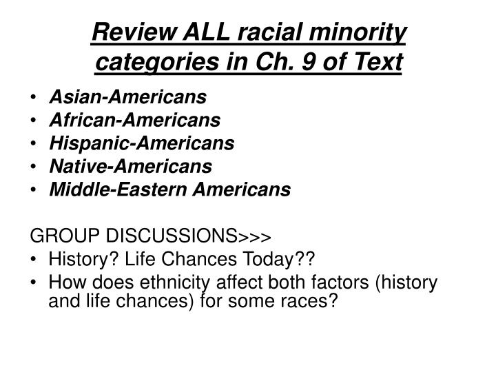 Review ALL racial minority