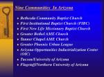 nine communities in arizona