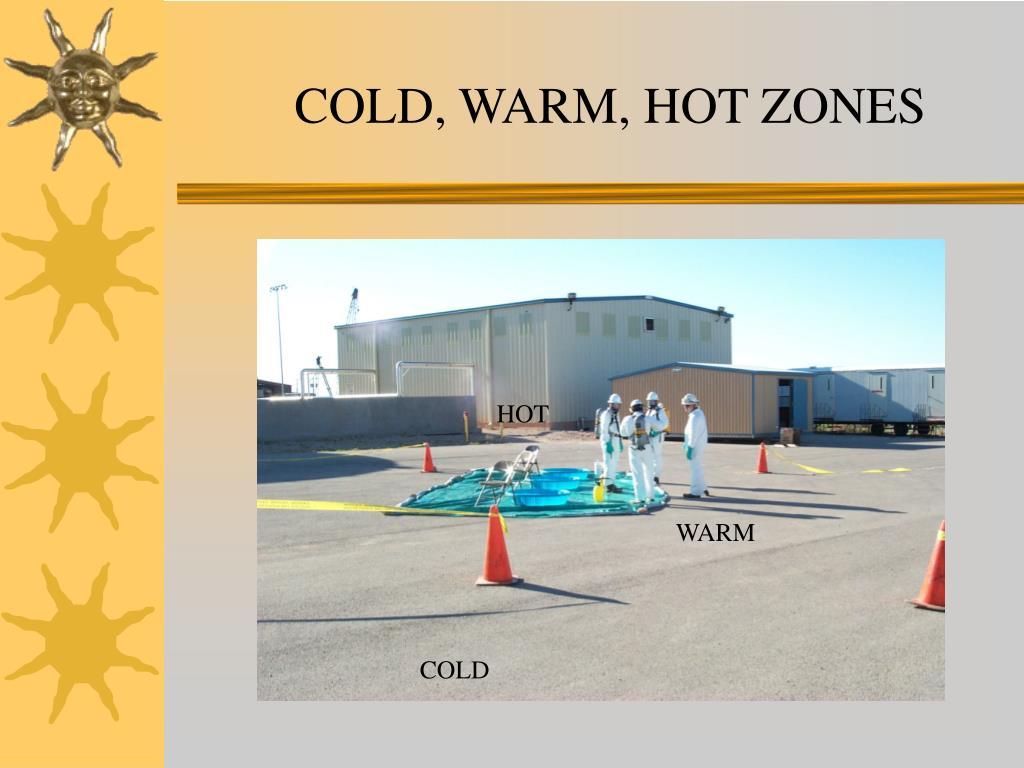COLD, WARM, HOT ZONES