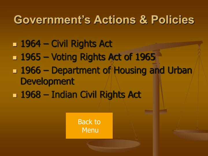 Government's Actions & Policies
