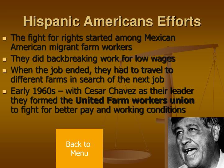 Hispanic Americans Efforts