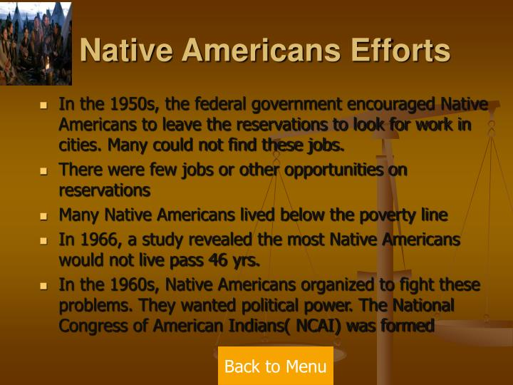 Native Americans Efforts