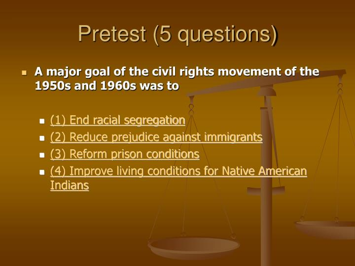 Pretest (5 questions)