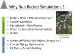 why run rocket simulations