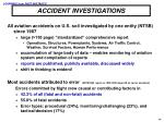 accident investigations