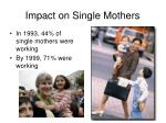 impact on single mothers